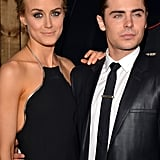 Zac Efron and Taylor Schilling linked up at the premiere for The Lucky One in LA.