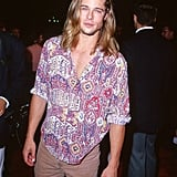 Holy shirt! Brad wore a psychedelic button down for the LA premiere of True Romance in September 1993.