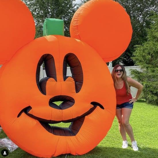 This Mickey Mouse Pumpkin Lawn Inflatable Is So Cute!