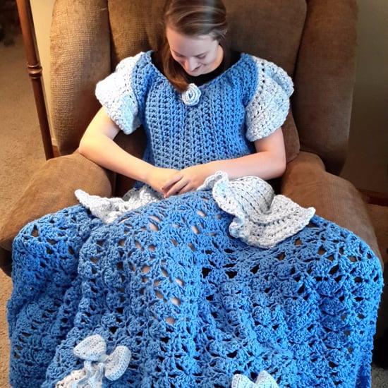 Crocheted Disney Princess Dress Blankets