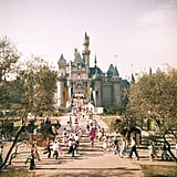 In 1955, eager parkgoers flooded the streets in their rush to visit Sleeping Beauty's castle.