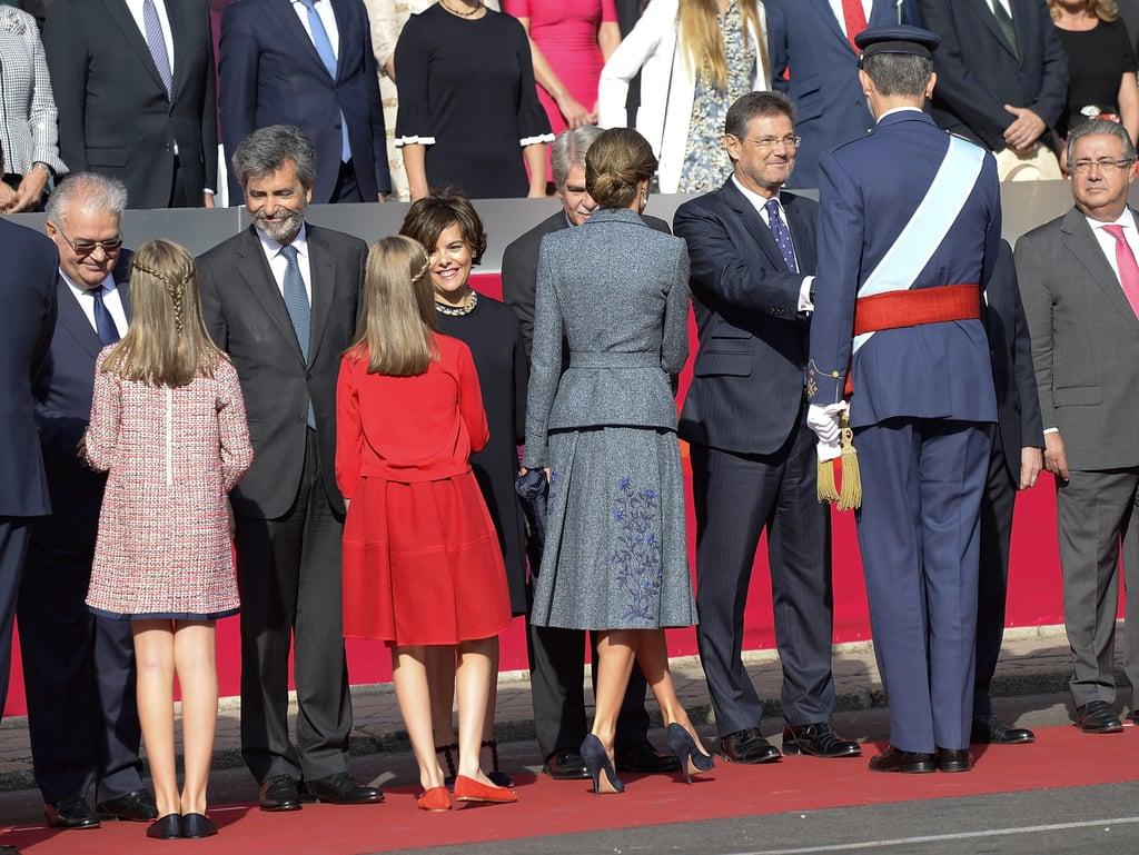 Spanish Royals at Spain National Day 2017