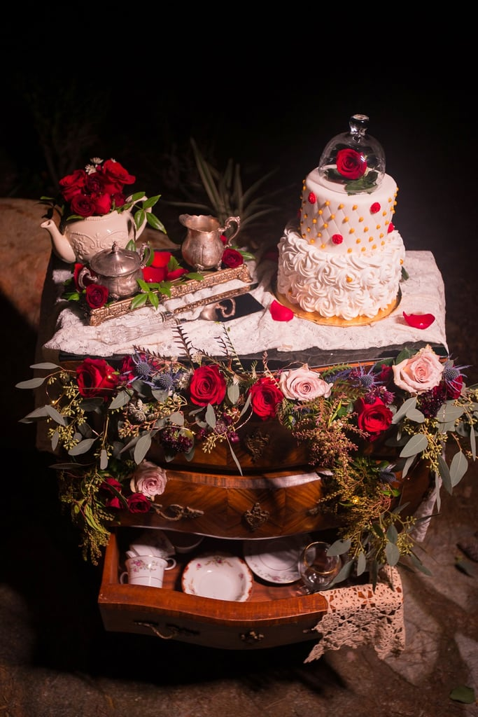 wedding cake beauty and the beast and the beast wedding cakes popsugar food 22000