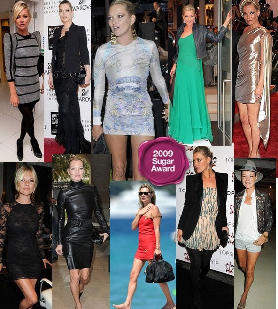 Kate Moss, best dressed model of 2009 - 2009 Sugar Awards