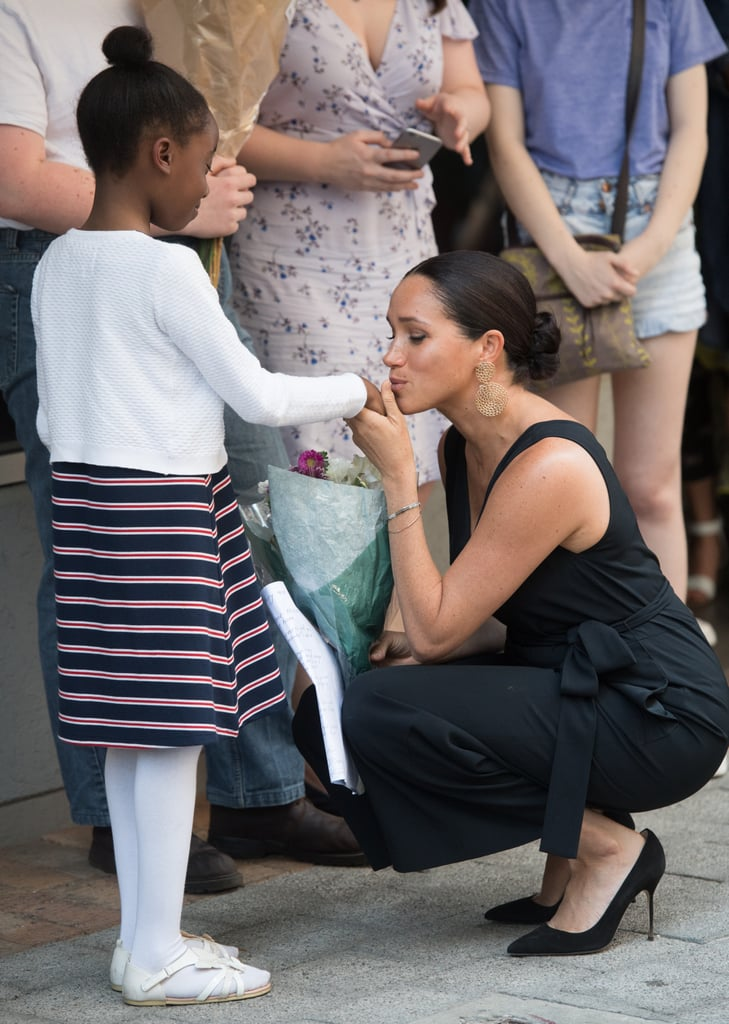 Prince Harry and Meghan Markle raked in so many cute moments with kids during their Southern Africa tour. In addition to bringing awareness to causes that are important to them and Harry's late mother Princess Diana, the couple met with various people from South Africa, Botswana, Angola, and Malawi. We already know that Meghan and Harry are naturals with kids, and their recent tour was no exception.  During their various appearances, the duo shared some precious moments with little royal admirers. And don't even get us started about their sweet moments with baby Archie during the tour! Whether they're offering warm hugs or getting down on their level to have a quick chat, we can't get enough of all of their sweet moments with kids. Now that the tour has officially wrapped up, look back at their best pictures with kids ahead.       Related:                                                                                                           67 Times Prince Harry Was Out-of-Control Cute With Kids