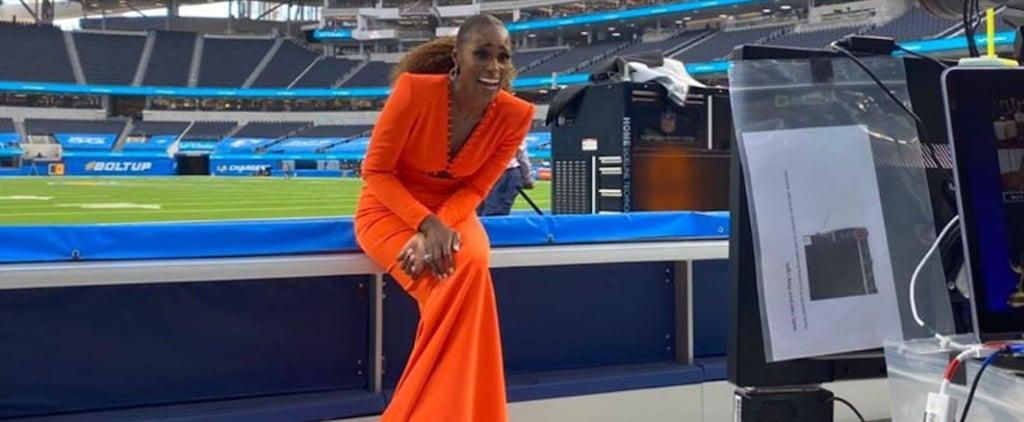 Issa Rae's Orange Sergio Hudson Dress at the Emmys