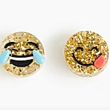 J.Crew Girls' glitter emoji earrings