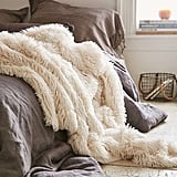 Urban Outfitters Plum & Bow Faux Fur Throw Blanket