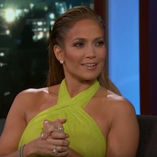 Jennifer Lopez Talks About Valentine's Day With Jimmy Kimmel