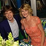 Laura Dern hung out with Mick Jagger at the HBO afterparty.