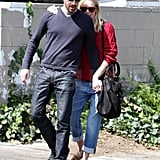 Kate Bosworth and Michael Polish Follow Up Lunch With Sweet PDA