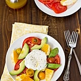 Burrata Fruit Breakfast Salad With Simple Dressing