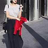 Work Cosy Separates Like a Maxi and Tee, and Tote Your Favourite Blazer