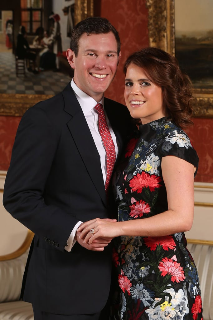 """When Eugenie tied the knot, she was actually given the choice of giving up her HRH Princess Eugenie of York title and being known instead as Lady Eugenie (which, let's be honest, still has a nice ring to it). According to royal historian Marlene Eilers Koenig, Eugenie could also keep her HRH style and adopt Jack's last name. """"She will be styled either as HRH Princess Eugenie, Mrs. Brooksbank or she could choose not to use her husband's surname,"""" the author told Hello! in January. As ninth in line for the throne, Eugenie doesn't have many of the same royal responsibilities (or the perks) that her adult cousins do. For one, she didn't have to get permission from Queen Elizabeth II to marry Jack — and even though she and her sister Beatrice are """"blood princesses,"""" they aren't technically working royals and are not obligated to carry out official duties.  So, what about Jack? Marlene Koenig reports that the 31-year-old """"will not be getting any title from the queen."""" Because Eugenie doesn't work for her grandmother, her spouse is not afforded the same designation as, say, Meghan Markle, who is married to a senior member of the royal family. Neither Eugenie or Jack were bestowed with new titled ahead of their wedding."""