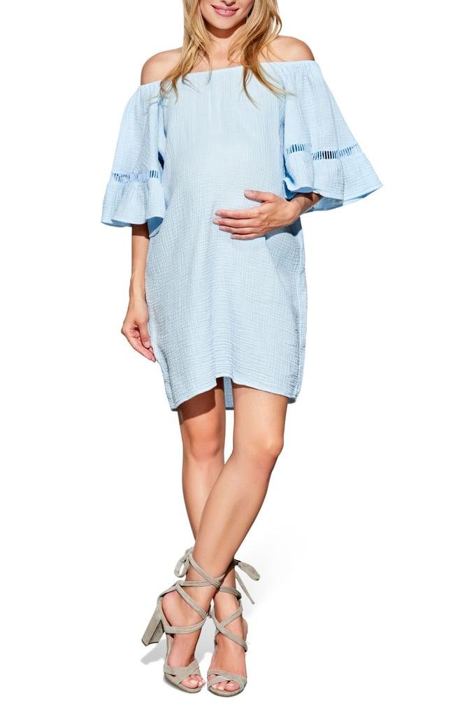 Maternal America Off-the-Shoulder Maternity Dress