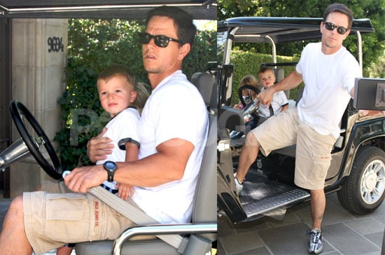 Photos of Mark Wahlberg Driving With His Kids in LA
