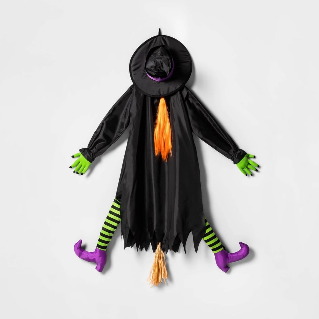 Crashing Witch Hanging Halloween Decor