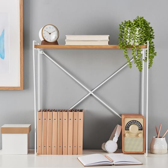 Wood and Metal Extra Large Desk Riser