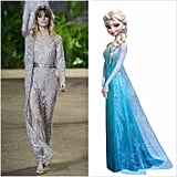 Elsa Wearing Elie Saab Couture