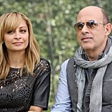 Nicole Richie and John Varvatos sat together at the NBCUniversal Summer press day in Pasadena.