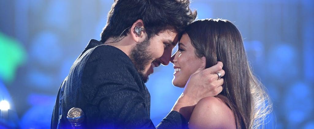 Sebastian Yatra, Tini Kiss at Premios Juventud Performance