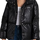 Bagatelle Faux Leather Puffer Jacket