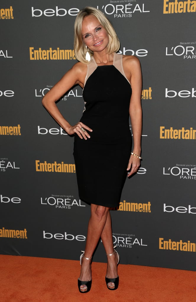 Kristin Chenoweth picked a little black dress with lots of personality at the pre-Emmys party in LA.