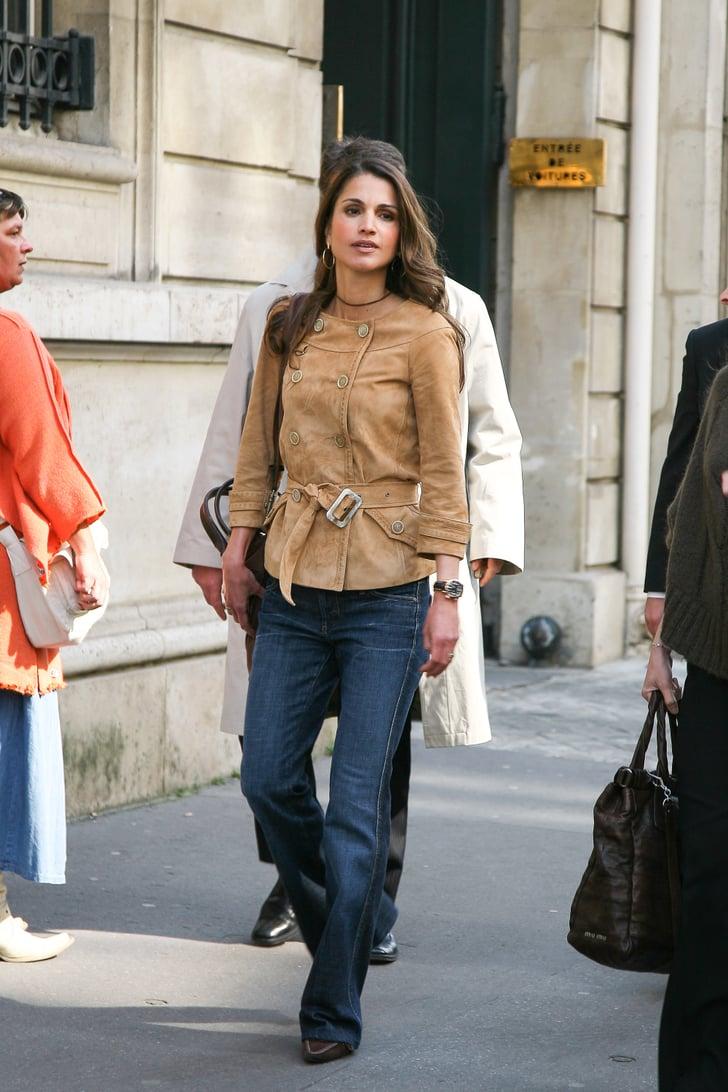 Queen Rania Of Jordan Royals Wearing Jeans Popsugar