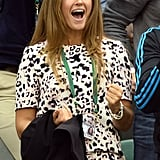 Kim Sears cheered on Andy Murray at Wimbledon.