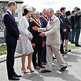 Prince Charles went out of his way to embrace Kate at an event in 2017.