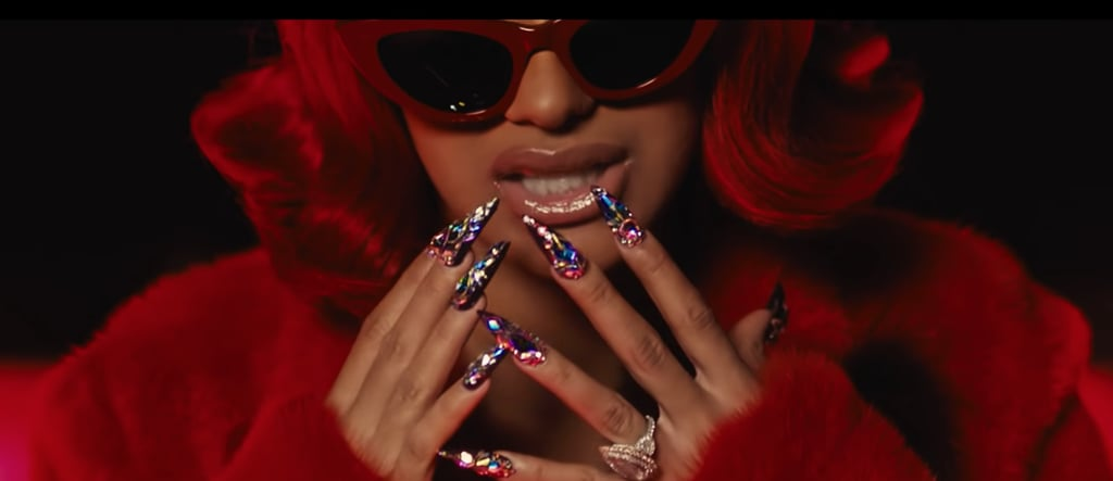 """Cardi B's Nails in """"Backin' It Up"""""""