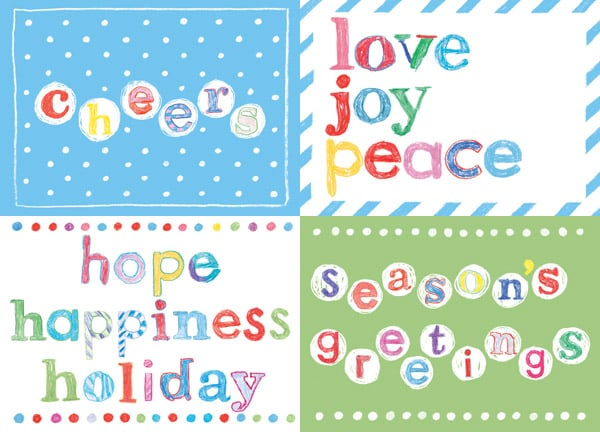 Send holiday cards for a good cause this year: Free Arts NYC provides children and families with educational arts and mentoring programs in the city, and its 2012 Holiday Cards ($15 for a pack of 12) were designed by the children themselves.