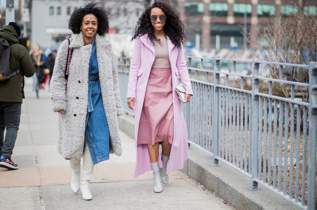 Follow Shiona Turini's lead and play around with various shades of pink for a flattering, feminine ensemble.