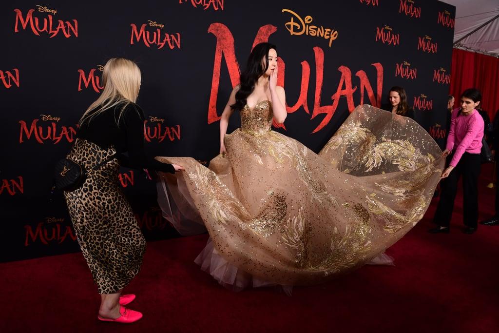 ليو يي فاي في العرض العالمي الأول لفيلم مولان في لوس أنجلوس