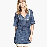 H&M Blue Printed Crinkle Tunic
