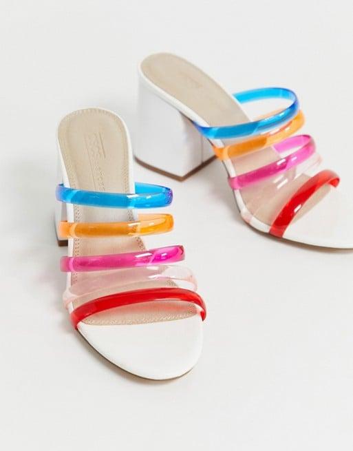 ASOS Design Hanson Clear Block-Heeled Sandals