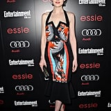 Downton Abbey's Michelle Dockery attended a SAG Awards preparty in a low-cut printed Peter Pilotto dress in January.