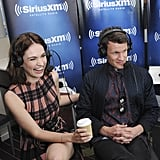 Matt Smith and Lily James at SiriusXM during Comic-Con
