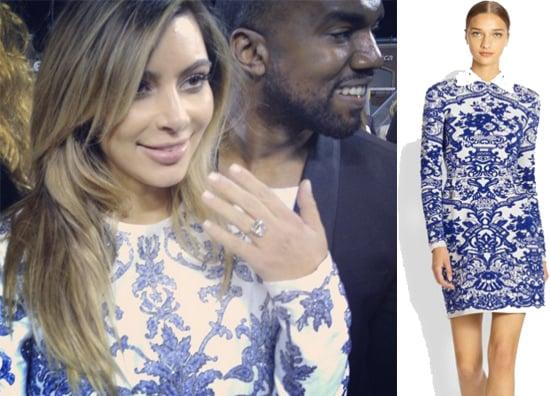 Kim Kardashian's Engagement Dress to Kanye West