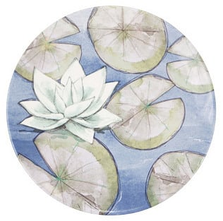 Creative Converting S/4 Melamine Dinner Plates, Lotus ($52)