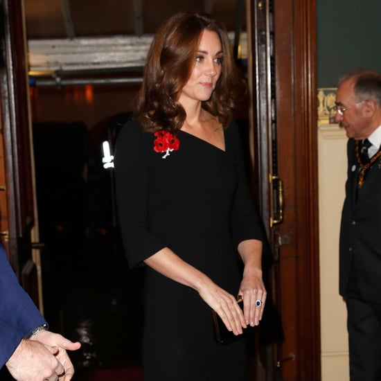 Kate Middleton Black Roland Mouret Dress November 2018