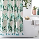 Vintage Marble Shower Curtain by Drew Barrymore Flower Home