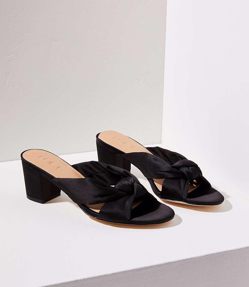 4b68ce3d2d27da Loft Satin Knot Slide Sandals