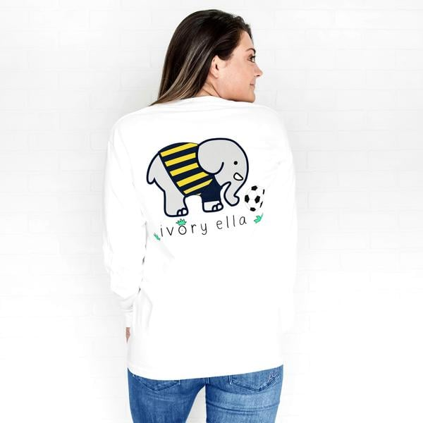 Classic Fit White Soccer Tee
