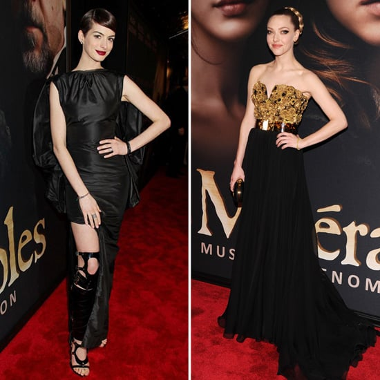 Anne Hathaway in Black at Les Miserables Premiere | Pictures