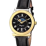 Who could turn down the awesome graphic on the Salvatore Ferragamo Moon Phase Two-Tone Watch ($829)?