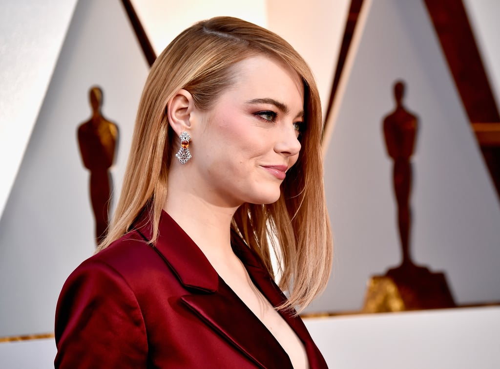 Emma Stone's Louis Vuitton Earrings in 2018