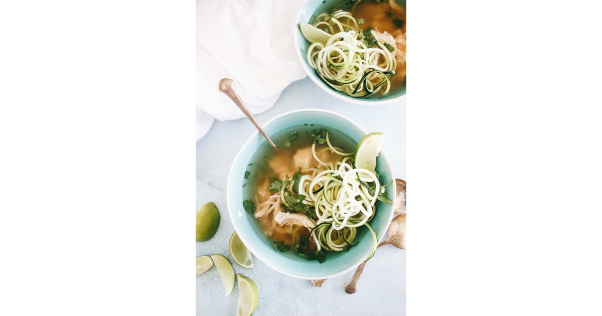Slow-Cooker Paleo Chicken Pho with Zoodles | Healthy Pho