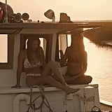 Sarah Cameron's Floral Bikini on Outer Banks