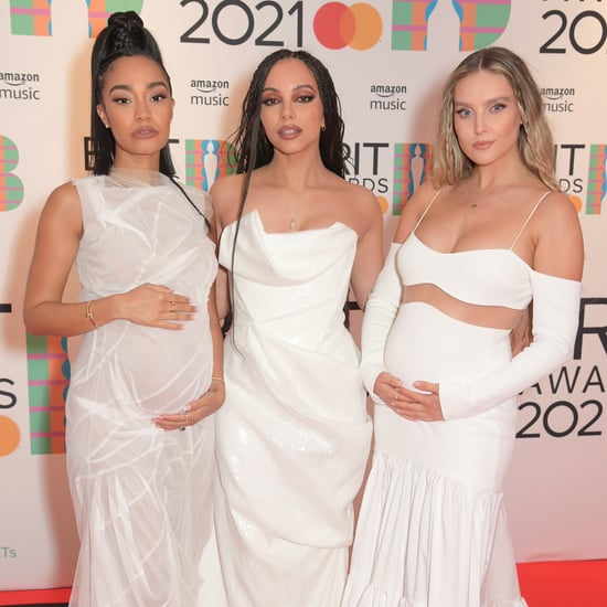 Little Mix's Matching White Dresses at the 2021 BRITs